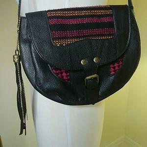 ROXY vegan leather adjustable crossbody purse